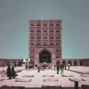 Retro futurism Iranian High rise Architecture Landmarks photomontage  14