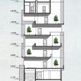 SectionBB elevation Facing Sun residential building in Fasham