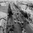 saadi street and the first tower in Tehran 1950s