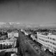 saadi street and the first tower in old tehran 1950s